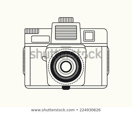 Klasszikus régi fényképezőgép film igazgató kalap film Stock fotó © fotoedu