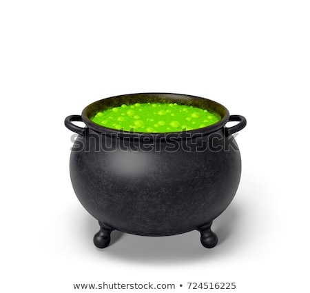 Halloween theme of a bubbling witch cauldron. Stock photo © Morphart