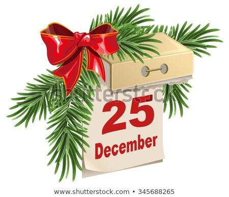 Kalender 25 december christmas geïsoleerd illustratie Stockfoto © orensila