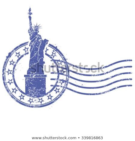 Grunge tampon statue liberté repère New York Photo stock © Winner