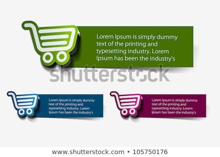 Add To Cart Green Vector Icon Design Stock photo © rizwanali3d
