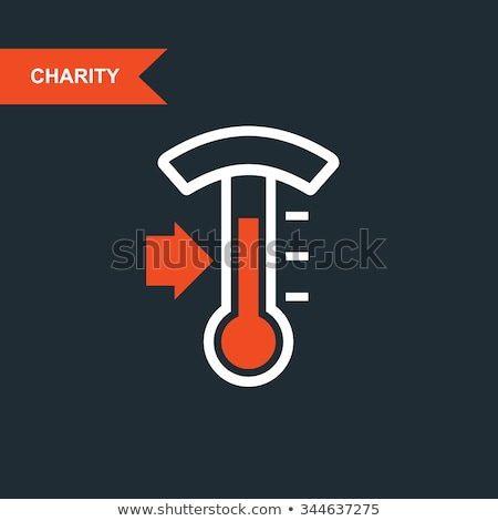 Donation thermometer - charity and telethon icon Stock photo © Winner