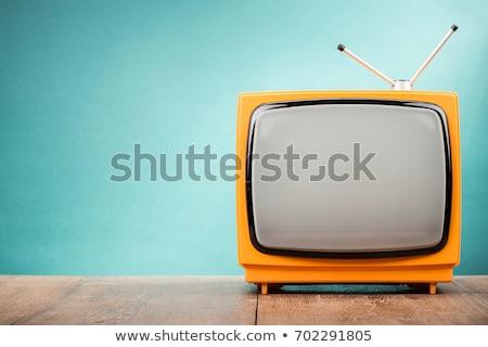 élégant · vecteur · tv · rouge · rétro · blanche - photo stock © sahua