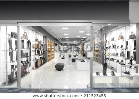fekete · cipők · butik · nő · divat · modell - stock fotó © paha_l