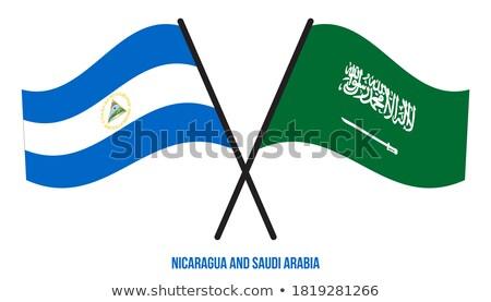 Arábia Saudita Nicarágua bandeiras quebra-cabeça isolado branco Foto stock © Istanbul2009