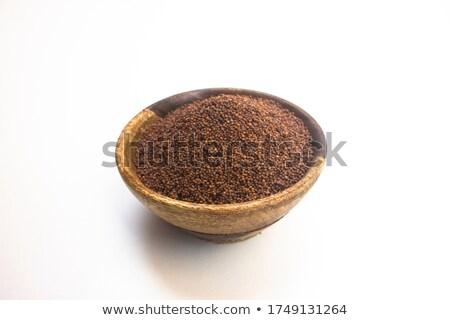 Top view of Organic Small Brown Mustard Seeds (Brassica juncea) Stock photo © ziprashantzi