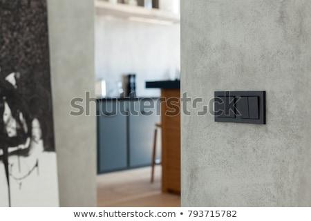 Interrupteur de lumière mur vertical photo maison blanche Photo stock © Novic