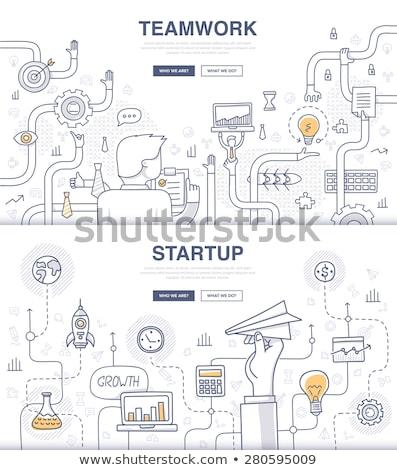 Teamwork Business Concept with Doodle design style  Stock photo © DavidArts