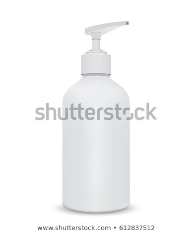 Shampoo White Plastic Bottle. EPS 10 Stock photo © beholdereye