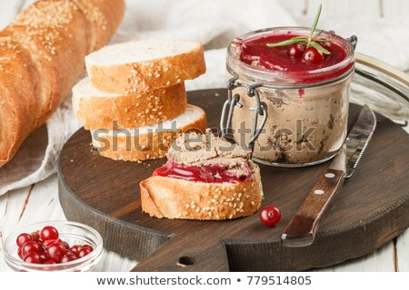 Liver pate and cranberry sauce  Stock photo © Digifoodstock