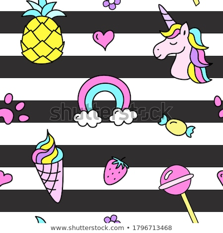 rainbow-patterned summer stuff Stock photo © nito
