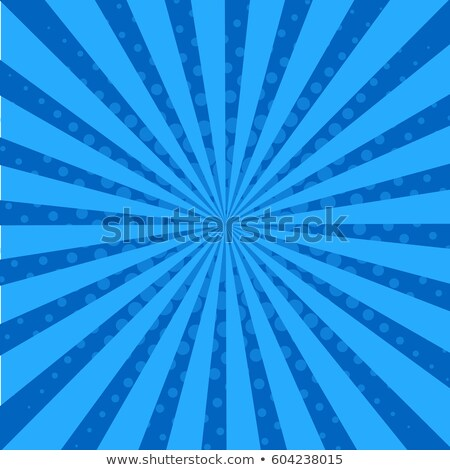 Stock photo: retro comic blue background raster gradient halftone