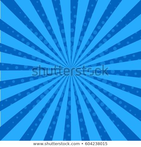 Stock photo: Retro Comic Blue Background Raster Gradient Halftone