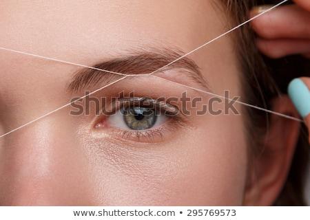Vrouw vorm mooie vrouw gezicht schoonheid Stockfoto © svetography