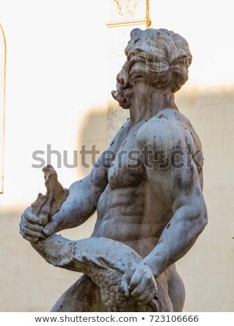 Rome Italië vintage fontein hemel water Stockfoto © photocreo