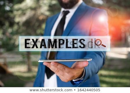 Oktatás szó szavak tanulás képzés mutat Stock fotó © stuartmiles