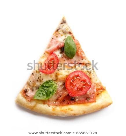 Smakelijk pizza slice heerlijk snacks vector kunst Stockfoto © vector1st