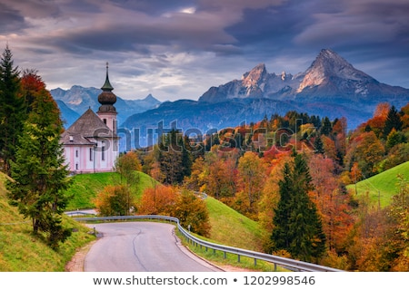 Chapel in the alps of Bavria Stock photo © manfredxy