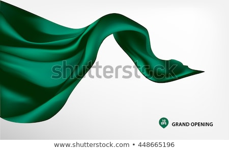 Smooth elegant green silk Stock photo © ozaiachin