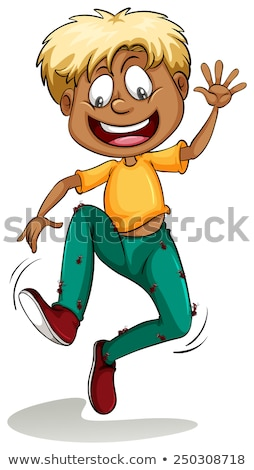 A boy with ants around his pants Stock photo © bluering