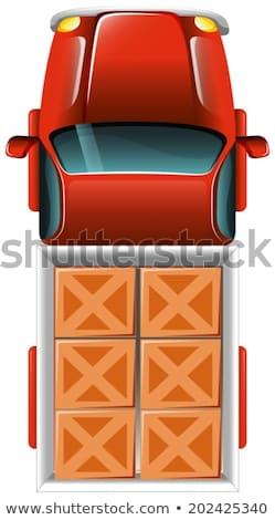 грузовик плитки иллюстрация белый автомобилей фон Сток-фото © bluering