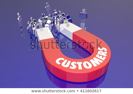 Customers People Clients Prospects Word 3d Illustration Stock photo © iqoncept