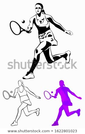 fitness · nina · vector · diferente · femenino · mujer · de · la · aptitud - foto stock © bluering