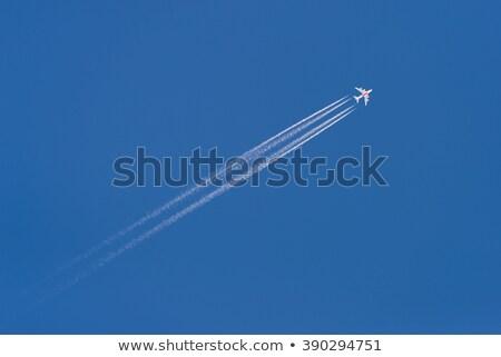 Kép repülőgép égbolt fehér üzlet háttér Stock fotó © bluering