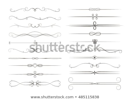 Big set of calligraphic page dividers, decoration vignettes on white Stock photo © Evgeny89