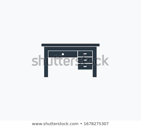 Wooden desk with drawers vector illustration. Stock photo © RAStudio