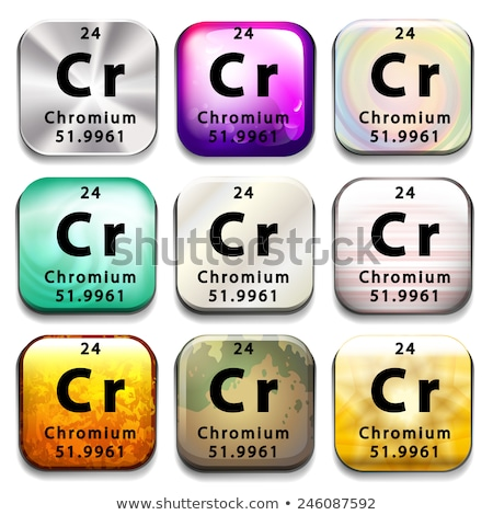 a periodic table button showing chromium stock photo © bluering