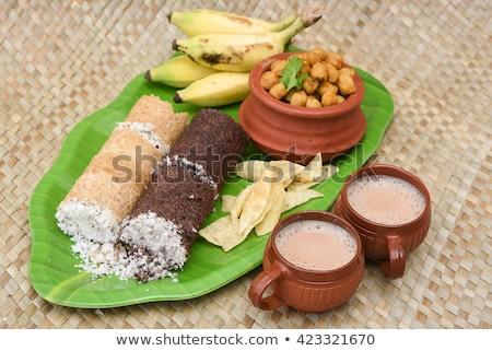 Puttu (South Indian breakfast dish) stock photo © vinodpillai