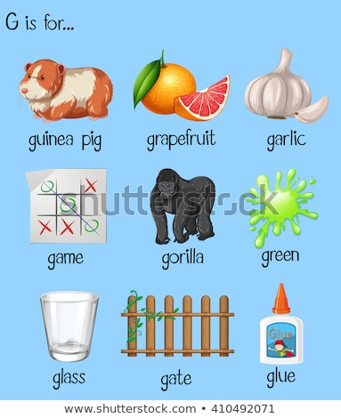 poster letter g and many words stock photo © bluering