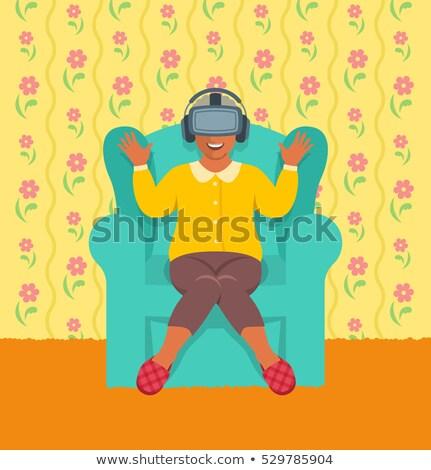 Cartoon · старушку · очки · изолированный · белый · женщину - Сток-фото © vectorikart