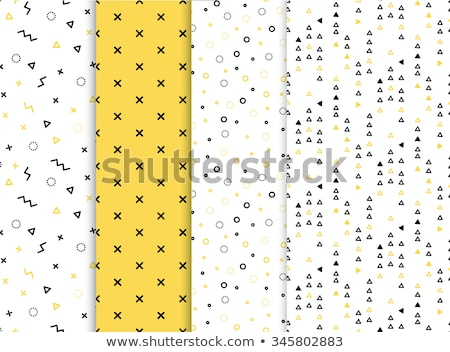 Stock photo: Memphis line seamless pattern. Gold pattern for fashion and wallpaper. Memphis style fabric, fashion