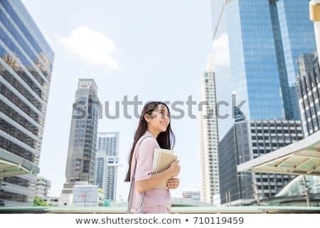 barna · hajú · üzletasszony · küldés · üzenet · csapat · boldog - stock fotó © artfotodima
