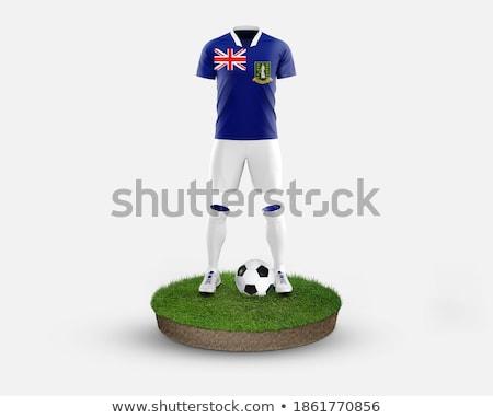 3D British flag on the ball field stock photo © Panaceadoll