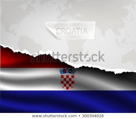 Ontwerp vlag land gescheurd papieren schaduwen Stockfoto © Panaceadoll