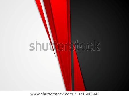 コントラスト · 幾何学的な · ハイテク · 企業 · 赤 · 白 - ストックフォト © saicle