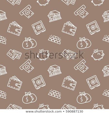 Brown wallet icon, flat design. isolated on white background. Vector illustration, clip art Stock photo © lucia_fox