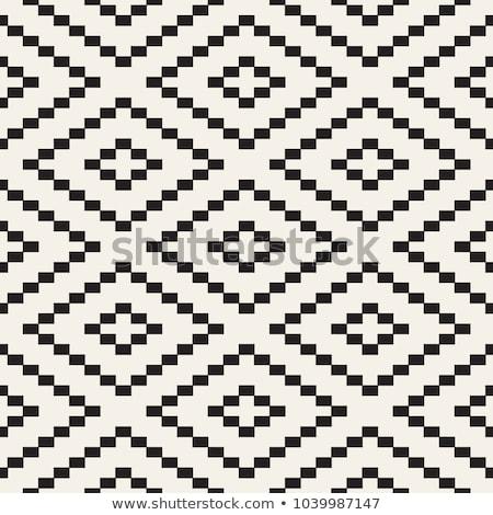 vektor · végtelenített · feketefehér · átló · hullámos · vonalak - stock fotó © CreatorsClub
