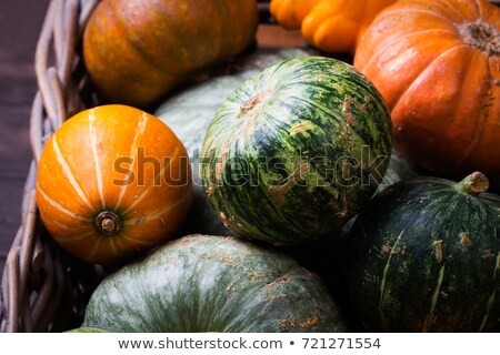 Vegetarian foods: pumpkin and greens Stock photo © tatiana3337