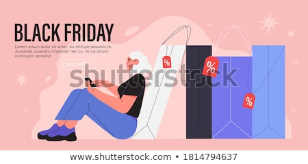 Black friday vásár terv bolt fekete ünnep Stock fotó © SArts