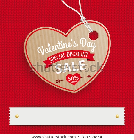 Knitted sale valentines day, vector illustration Stock photo © carodi