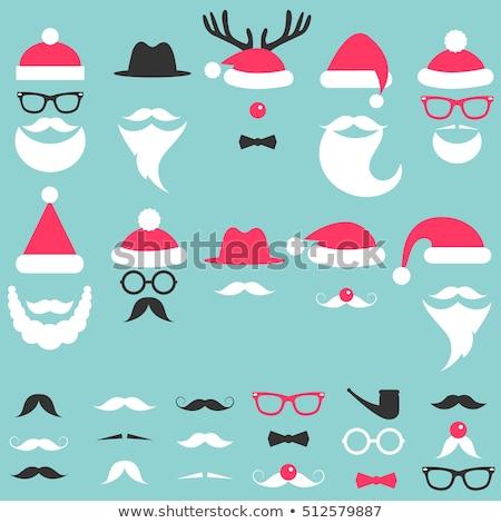 маске белый борода очки носа Сток-фото © orensila
