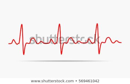 Ritmus szív pulzáló grafikon absztrakt piros Stock fotó © alexaldo