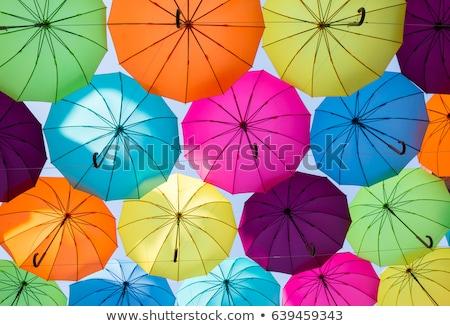 зонтик · небе · ярко · воды · трава · фон - Сток-фото © rufous
