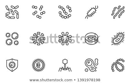 virüs · hat · ikon · vektör · yalıtılmış · beyaz - stok fotoğraf © rastudio