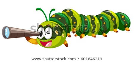 Caterpillar looking through telescope Stock photo © bluering