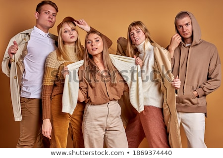 Female wearing sportive outfit posing  Stock photo © dash